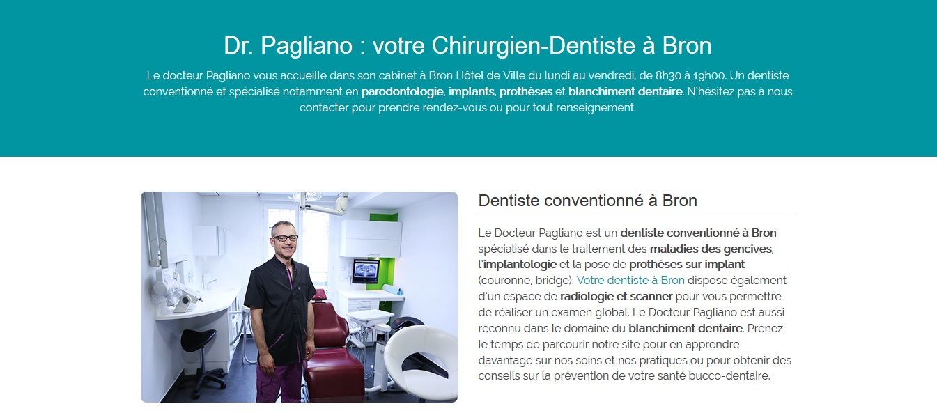site internet dentiste bron